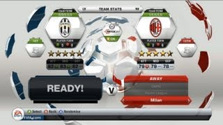 FIFA 13 Demo Gameplay Juventus VS AC Milan & Skill Games