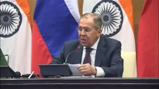 Заявление С.Лаврова на пресс-конференции по итогам встречи мининдел РИК
