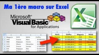Excel : Ma 1ère macro VBA Excel (Partie 1/2)