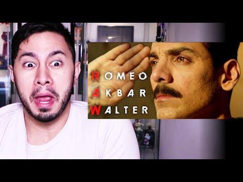 ROMEO AKBAR WALTER | John Abraham | Trailer Reaction!