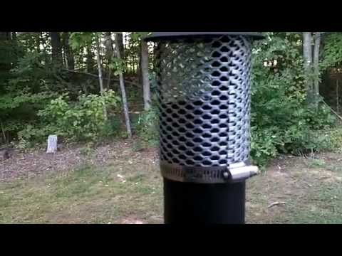 TMS Military wood stove spark arrestor Modification - YouTube