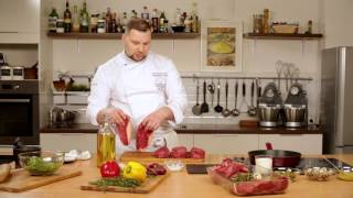 Как приготовить мясо. Готовим Стейк из говядины. Видео как жарить мясо.