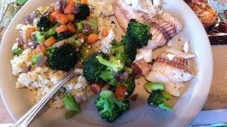 Quinoa With Sauteed Vegetables And Baked Pollock