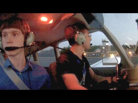 Piper Warrior Best Air Traffic Controllers Ever! - ATC Audio codes on request flight following