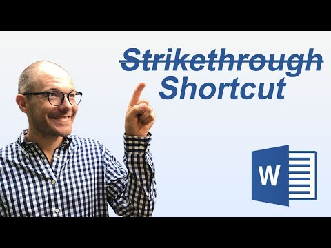 Strikethrough In Word W/ Keyboard Shortcuts