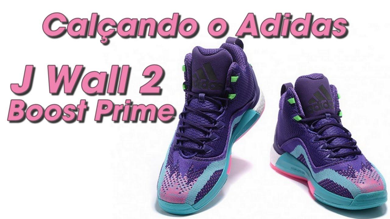 69fe91486e79 Calçando o tênis Adidas J Wall Boost Prime (J Wall Boost Pime on feet) - Canal  21onze