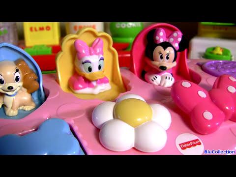 Disney Baby Minnie Mouse Pop-Up Surprise Pals VS. Sesame Street Pop Up Pals Babies Toys