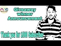 Giveaway result Announcement...|| Thank you for your support ||