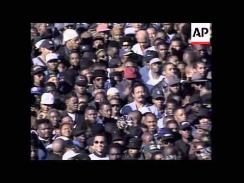 USA : WASHINGTON: THOUSANDS OF BLACK MEN JOIN MILLION MAN MARCH