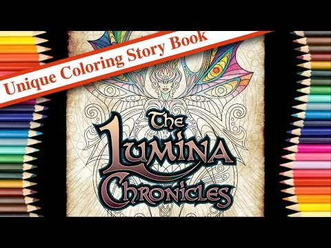 A Look Inside The Lumina Chronicles Coloring Storybook by Cristina McAllister