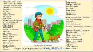 Румынский язык. Репетитор румынского языка. Учить румынские слова . ОдеждаÎmbrăcămintea. ( Одежда )