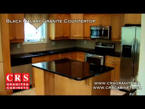 Black Galaxy Granite Countertop By Crs Granite Cabinets In
