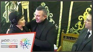 لبلبة وفيفى عبده وكمال أبو رية فى عزاء سعيد عبد الغنى