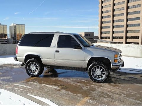 1999 chevrolet 2 door tahoe z71 4x4 lifted rare truck for sale youtube. Black Bedroom Furniture Sets. Home Design Ideas