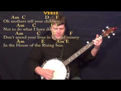 House Of The Rising Sun Banjo Cover With Chords Lyrics