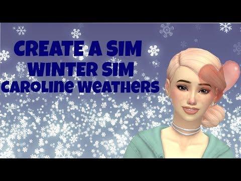 Create A Sim: Winter Sim (Caroline Weathers) | Sims 4 Maxis Match + FULL CC LIST