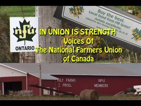 NFU - In Union Is Strength - Voices of the National Farmers Union of Canada