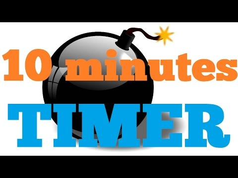 10 minutes  Countdown Timer Alarm Clock