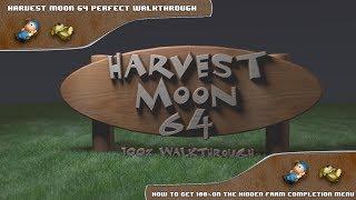 Harvest Moon 64 Perfect Walkthrough - Getting 100%  On The Hidden Farm Completion Menu