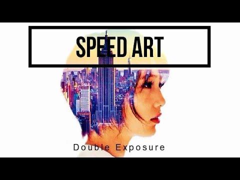 Speed Art - Double exposure effect | HD