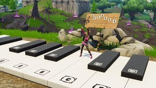 So I made Happier by Marshmello music using the In-Game Piano in Fortnite