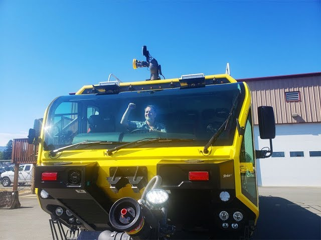 Check out the New Fire Truck at the Nanaimo Airport