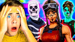 Reacting to the most EXCLUSIVE SKINS of my subs! Fortnite *Ghoul Trooper, Renegade Raider*