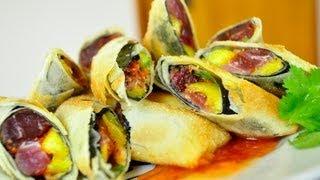 Tuna Mango Spring Rolls Bjc マグロとマンゴーの揚げ春巻き