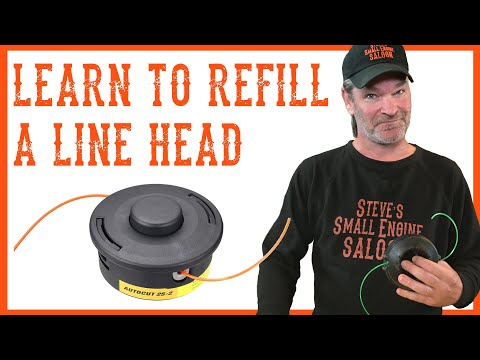 How To Refill Your Trimmer Line - Video