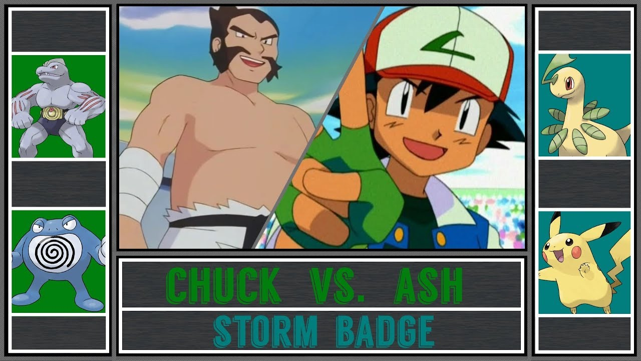 Ash Vs Chuck Pokémon Sun Moon Cianwood Gym Storm Badge Johto Battle