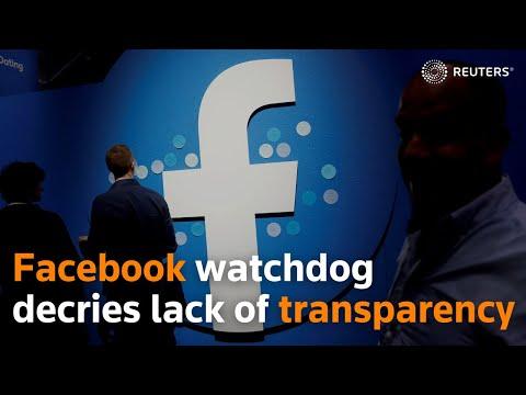 Facebook watchdog decries lack of transparency