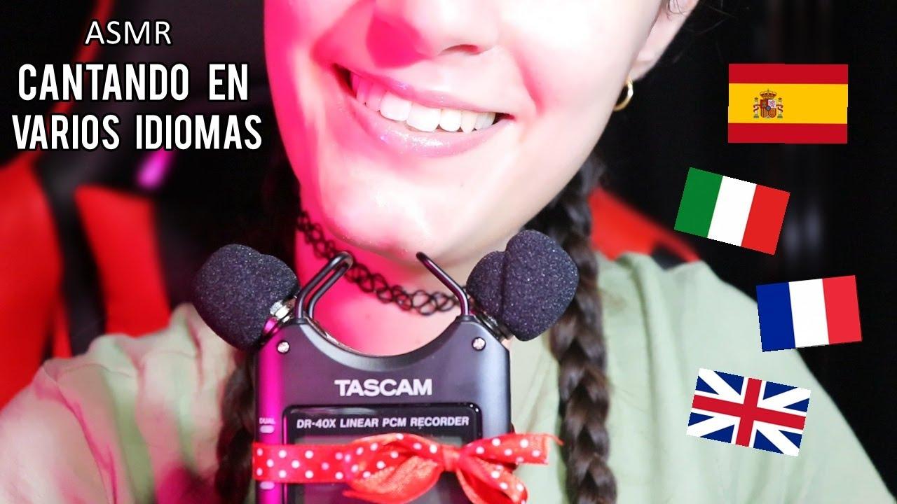 ASMR Cantando en VARIOS IDIOMAS para DORMIR.♥ [RELAJANTE!] |EL ASMR Español
