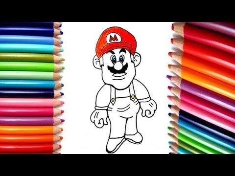 Super Mario Bros Dibujos Animados Para Niños Dibuja Y Colorea