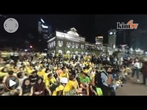Video 360 'Bebas Maria', lebih 1,000 penyokong BERSIH hadir