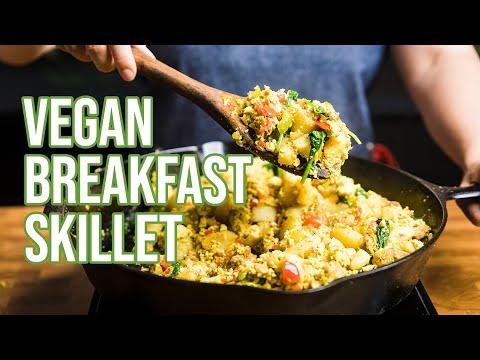 Vegan Sausage & Egg Breakfast Skillet + Vegan Breakfast Burrito     Vegan Breakfast Meal Prep