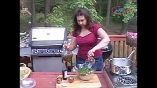 Samira's Kitchen # 69 Part 3 Vegetarian Dolma (stuffed Grape Leaves)