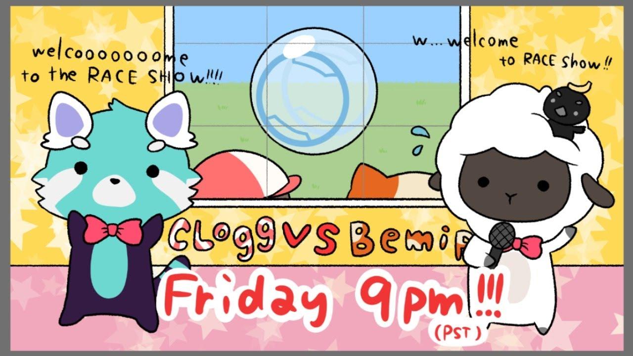 The Great Hamster Ball Race Clogg Vs Bemipu Youtube
