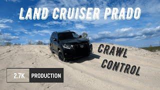Land Cruiser Prado   первый тест в песках. CRAWL CONTROL Prado 150