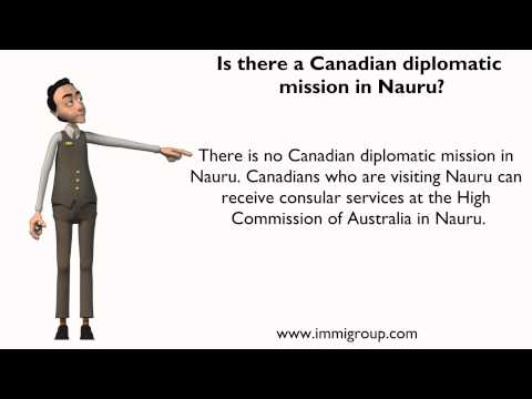 Is there a Canadian diplomatic mission in Nauru?