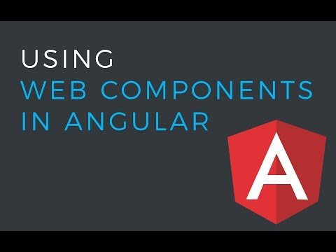 How to use Web Components in Angular