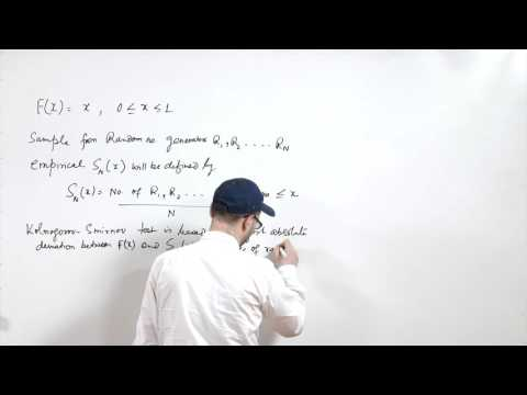 Lecture 18 - Testing of random numbers
