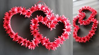 DIY Paper Heart Wall Hanging - Easy Wall Decoration Ideas - Paper craft