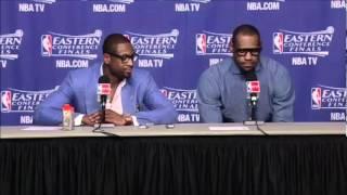 Dwayne Wade And LeBron James Game 7 Postgame Press Conference
