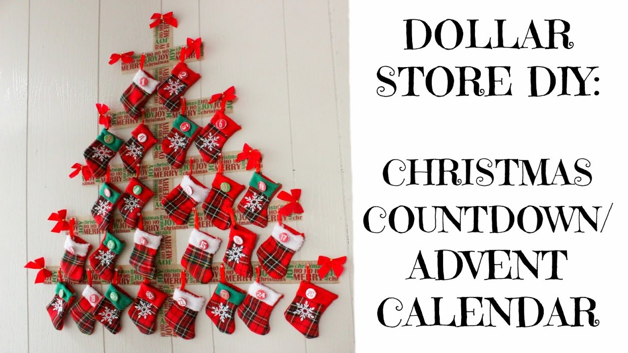 dollar store diy christmas countdown advent calendar youtube