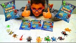SPIDERS & FLY INSECTS - RAGNI E INSETTI VOLANTI - Leo Toys