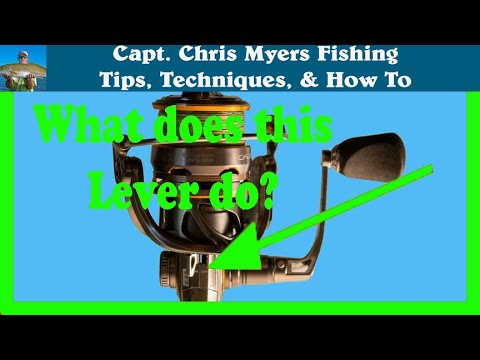 How to use a spinning reel - The Anti Reverse Button