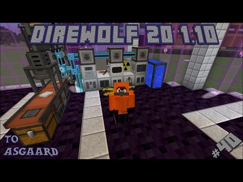 Direwolf 20 1.10 Let's Play Ep. 40: Automating Nuclear Fuel Rods