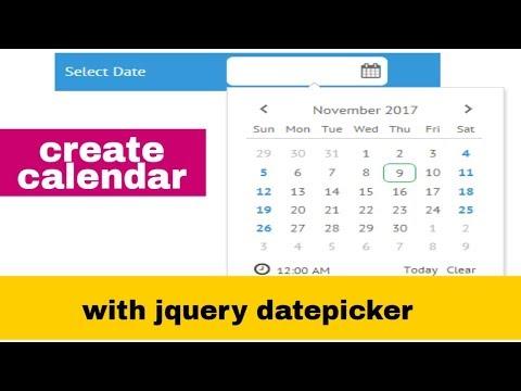 datepicker jquery ui example : download example code | cdn