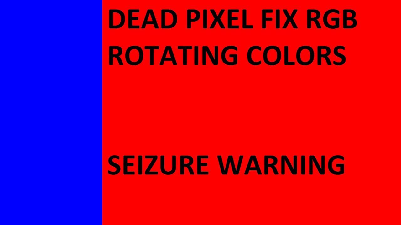 dead pixel fix rgb rotating colors seizure warning hd 1080p 16x9