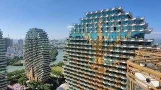Дома Деревья туристический комплекс в городе Санья Остров Хайнань Китай